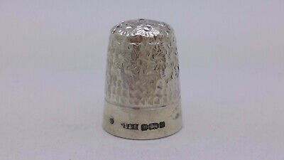1977 Solid Sterling Silver Sheffield Thimble by James Swann & Son