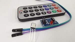 Infrared IR Receiver Wireless module Remote Control Kit with Battery For Arduino