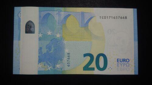20 EURO BANKNOTE ERROR DEFECT VERY RARE  UNC