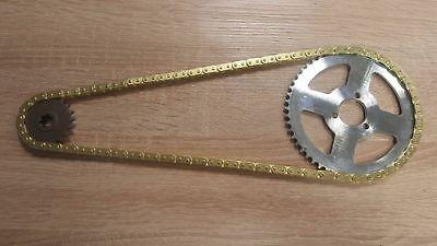 Pocket Bike Minibike 20er Ritzel 54 Zähne T8F Kette Kettenrad DirtBike Gold