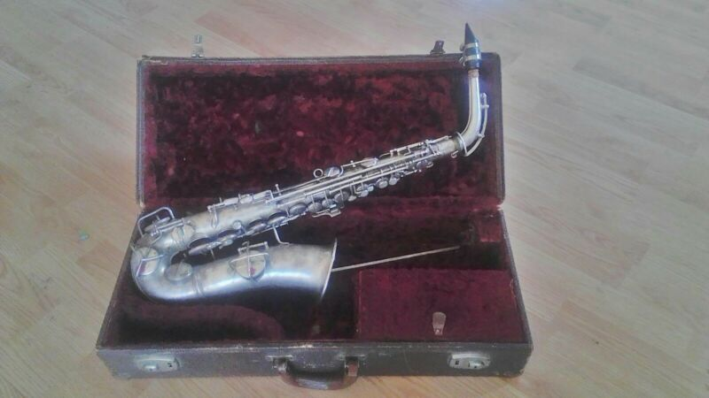Silver cg conn saxophone manufactured in 1921