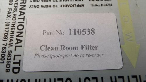 Purex 110538 Clean Room Filter