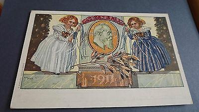1911 Prince Luitpold Regent of Bayern 90th Birthday Original vintage Postcard