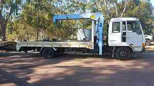 TILT TRAY WITH HIAB CRANE TOW TRUCK FOR HIRE. Byford Serpentine Area Preview