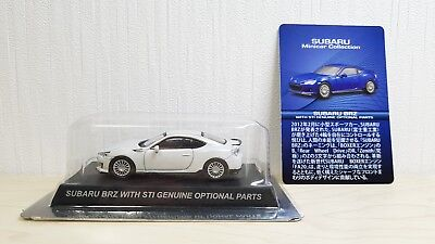 1/64 Kyosho SUBARU BRZ WITH GENUINE STI OPTIONAL PARTS WHITE diecast car model