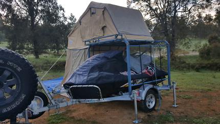 Jetski trailer and camper