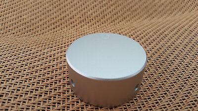 Sanded Universal 48x22mm Solid Aluminum Volume Control Audio 14 Silver Knob