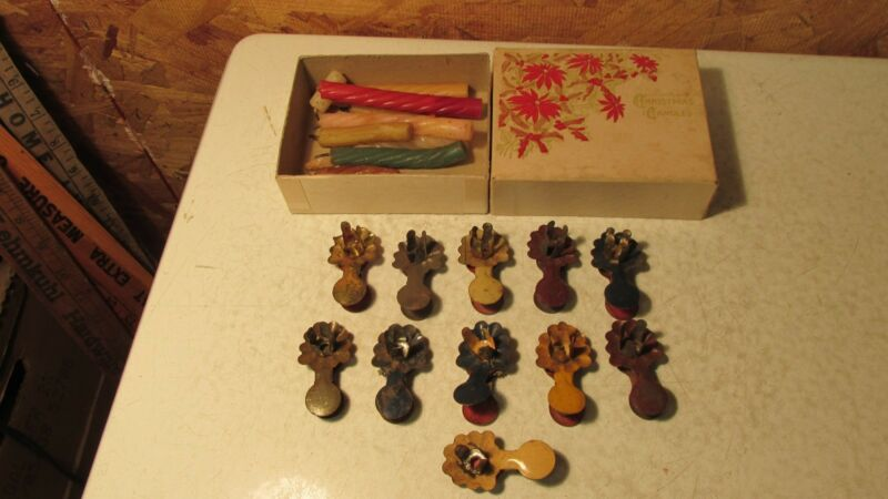 Antique Christmas Tree Candles & Clips  No. 5