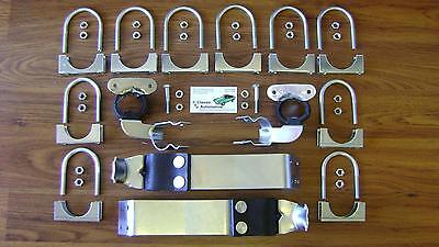 Camaro Nova Exhaust System Hanger Clamp Kit 50pc **In Stock!** Plated Hangers