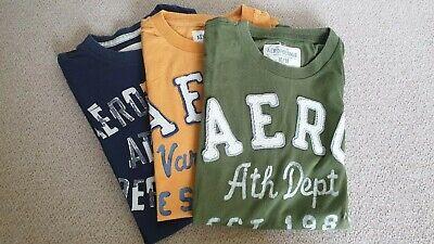 3 Männer /Herren T Shirts, Aeropostale, Größe M, dunkelblau, olivgrün und orange ()