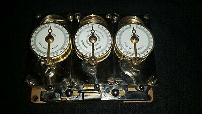 Vintage Mosler 3 Movement Position Bank Vault Time Lock Mechanism Steampunk