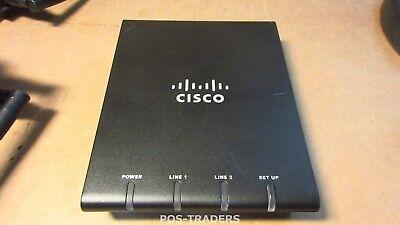 Cisco ATA187 V01 Analog Telephone Adaptor 2 x RJ 11 74-7022-02 - EXCL PSU
