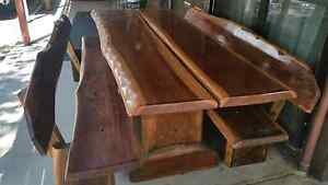 Solid timber table and seats Glass House Mountains Caloundra Area Preview