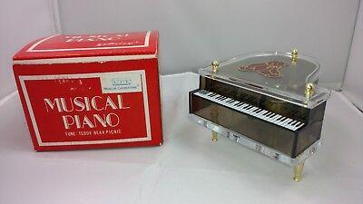 Teddy Bear Picnic Song (Vintage Schmid Music Box Lucite Mini Grand Piano Musical Teddy Bear Picnic)