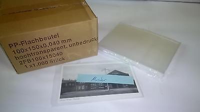 Ansichtskartenhüllen, 1000 Stück für alte kleine Postkarten 100x150x0,04mm