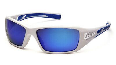 Pyramex Velar Safety Glasses Sunglasses Work Eyewear White Frame Ice Blue (Frame Safety Glasses Sunglasses)