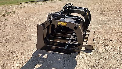 New 85 Brush Root Rake Grapple. Grade 50 Steel. Skid Steer Tractor Kubota
