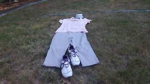 Golf Clothing - Ladies FJ Shoes, Puma Top, Pants. Titleist Visor