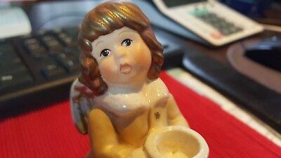 Goebel Engel Weihnacht Kerzenständer, Porzellan Figur