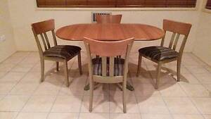 Tassie Oak Dining Table, 4 Chairs and Sidetable Toowoomba Toowoomba City Preview