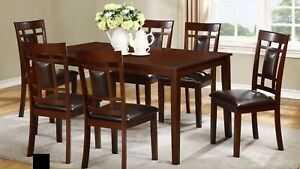 7-PIECE DINING TABLE SET 499 ONLY