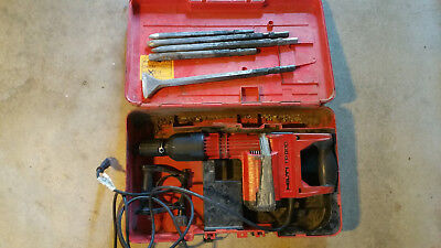 Hilti Tp 800 Demolition Chipping Hammer Drill With Chisels Case
