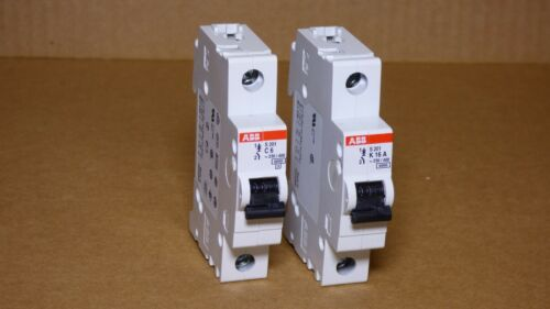 ABB Circuit Breakers, 1 Pole  IEC 947-2 -- S 201 C6 & S201 K16A