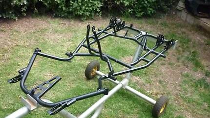 go kart dirt kart twin frame  and trolley
