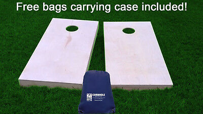 Finished & Non Painted Regulation Size Cornhole / Corn Hole Boards with bags DIY - Diy Corn Hole