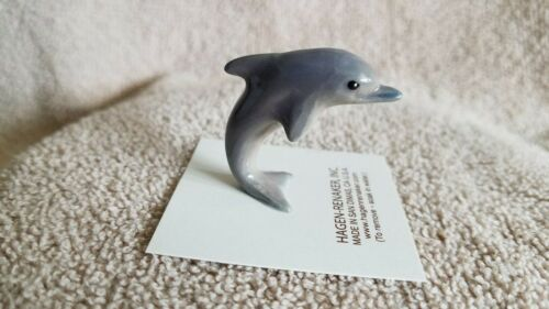 Hagen Renaker Jumping Dolphin Figurine Miniature Collect New Free Shipping 00965