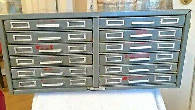 All Metal 12 Drawers Storage Bin Cabinet By Steelmaster