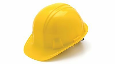 Hp14130 Yellow Pyramex Standard Hard Hat Cap Style 4-point Ratchet Suspension