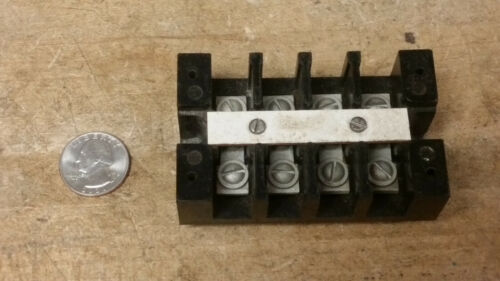 Nice 4 Lug Barrier Terminal Strip f/ Old Vintage Ham Radio Tube Amp Power Supply