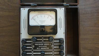Vintage 25hz60hz Precision Apparatus Ac Ammeter Reduced