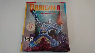 TURRICAN 2 II - ATARI ST - RARE Original BIG BOX - Complete, Tested & Working