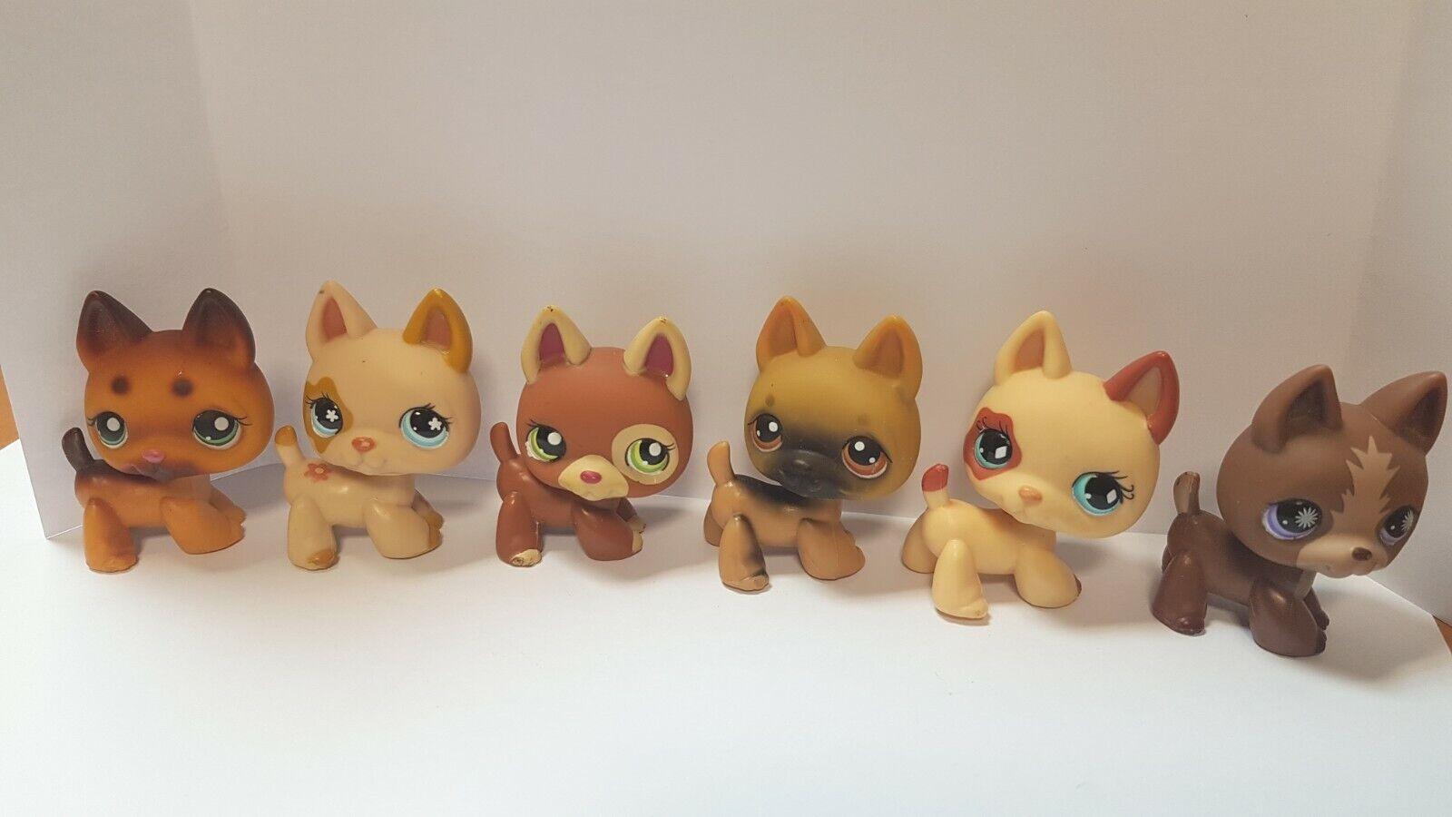 Lot 6 figurines  petshop  original 6 chiens dog berger allemands  pet shop lps