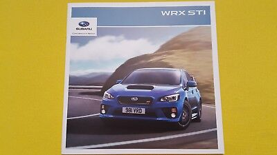 Subaru WRX STi 2.5 Boxer brochure sales car catalogue 2015 MINT WRC Rally