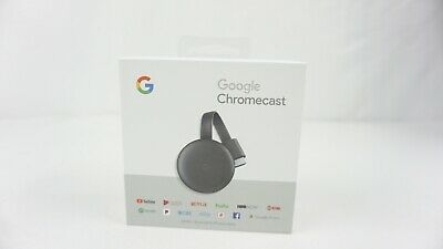 GOOGLE CHROMECAST 3rd Generation BLACK Digital HDMI Media Streaming NEW/SEALED
