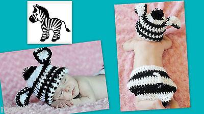 ★★★NEU Baby Fotoshooting Kostüm Kleines Zebra 0-6 Monate - Baby Zebra Kostüm