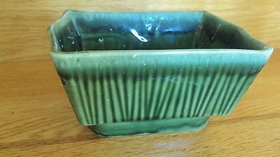 Vintage Cookson Pottery Planter With Green Grass Glaze - $18.88
