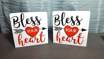 Blessed Shadow Box Frame - Shadow Box 6x6x1 3/8  Box Home Decor Frame - BLESS YOUR HEART  Pack of 2