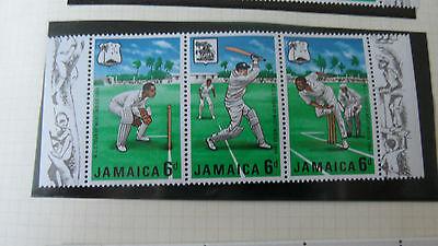 JAMAICA 1968 SG 267/9A HORIZ STRIP WEST INDIES TOUR MNH