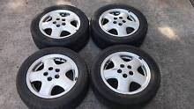 Toyota Celica Stock Mag alloy wheels with tyres 15inch 5x100 Chatswood Willoughby Area Preview