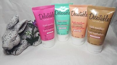 - Delectable Triple Moisture Body Lotion Limited Candy Gingerbread Mint Clementine