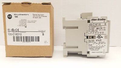 Allen-bradley Iec 100-c16d10 Contactor 16 Amp 120vac Coil Brand New.