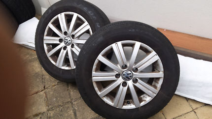 Vw mags and tyres 2 only $55 each