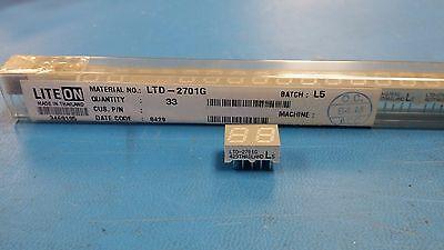 10 Ltd-2701g Lite-on Displays Segmented Panel 2digit 16led Green Cc 10-pin Dip