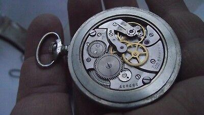 MOLNIJA VINTAGE RUSSIAN pocket Watch 16 Jewels mechanism 3608® - train. RARE.