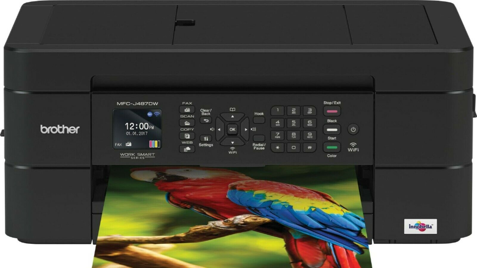 New Brother Work Smart Series MFC-J497DW All-In-One Printer Fast Shipping
