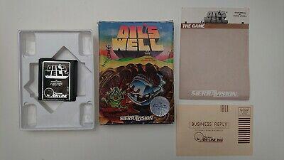 OIL'S WELL - ATARI 800/XL/XE ROM Cartridge Boxed - V RARE - SIERRA Tom Mitchell